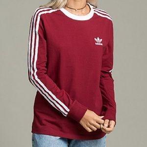 Adidas Original Three Stripe Long Sleeve Shirt